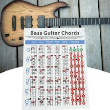 4 String Bass Guitar Chords Chart Details About 4 Strings Electric Bass Guitar Chord Chart Music Instrument Practice