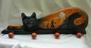 Cat Coat Rack MAGIC BRUSH STUDIO OOAK BLACK CAT HALLOWEEN COAT RACK on eBay 14