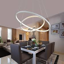 pendant lighting for dining table. Modern Acrylic Rings Pendant Lights For Dining Room AC 90 260V Lamparas Led Lamp Pendente Luminaire Suspendu Hanglamp-in From Lighting Table