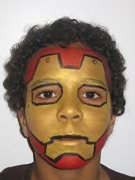 iron man face paint