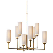 Vendome Large Chandelier In Antique Silver With Natural Paper Shades  $1,049.00
