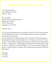 Offer Acceptance Email Sample 9 Job Acceptance Letter Template Examples Samples Top