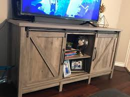 better homes gardens modern farmhouse tv stand for tvs up to 60 rustic gray finish com