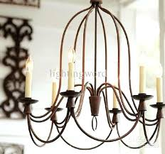 rustic wrought iron chandelier alluring round