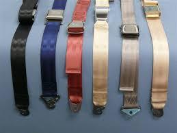 re webbed aircraft seat belt restraints