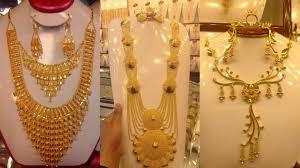 Arabic Gold Jewellery Designs Stylish Saudi Arabic Gold Necklaces Designs