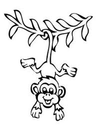 Small Picture Hanging Monkey Coloring Page Art Schoolin Pinterest Monkey