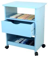 office rolling cart. Rolling Office Cart With Drawer Blue  Contemporary Carts And Stands