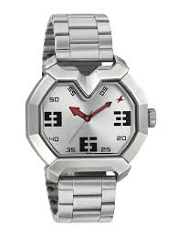 buy fastrack men silver toned dial watch 3119sm03 watches for buy fastrack men silver toned dial watch 3119sm03 watches for men myntra