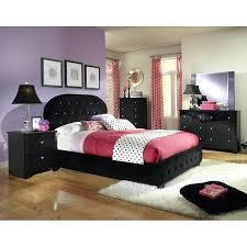 marilyn collection bedroom set w black bed standard furniture cart bk 1