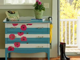 Decoupage Kitchen Cabinets How To Make A Striped And Floral Dresser How Tos Diy
