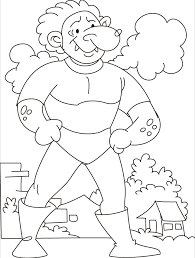 come test your strength says the tarzan giant coloring pages free printable coloring pages