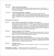 6 Sample Lawyer Resume Templates To Download | Sample Templates