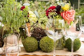 Moss Balls Wedding Decor Interesting Showers Parties Photos Garden Flowers Table Décor Inside Weddings