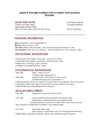 easy sample resume format template easy sample resume format