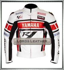 yamaha r1 motorbike biker men leather safety jacket
