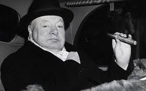 we shall fight on the landing grounds sir winston churchill  winston churchill in evening dress a cigar in 1951