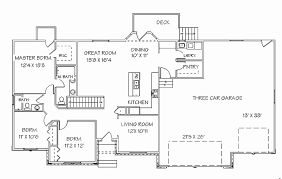 2 bedroom ranch house plans with walkout basement awesome lovely