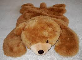 plush bear rug