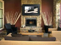 installing tv above stone fireplace install flat screen attaching mount to designs