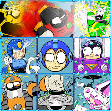 The Megaman 9 Bunch By Cybermoonstudios Mega Man 9 Mega