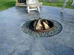 concrete patio designs with fire pit. Contemporary Pit Amazing Stamped Concrete Patio Designs With Fire Pit Picture Concept Throughout T