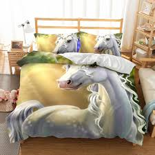 2018 kids bedding 3d beautiful unicorn bedding sets all sizes pillow case quilt cover duvet cover no filler from molahome 36 19 dhgate com