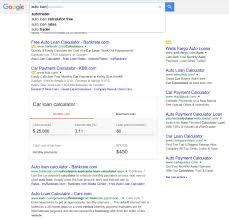 Google Testing New Auto Loan Calculator Complete Seo