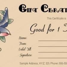 tattoo gift certificate template cortezcolorado within tattoo gift certificate template