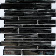 dark gray linear hand painted glass mosaic tiles vg hpl94