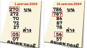 ค้งสุดท้ายหวยเด็ด คมเดช ทองมี งวดวันที่ 2 พฤษภาคม 2564 - YouTube