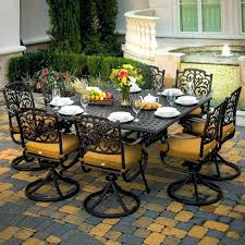 patio dining set with swivel chairs outdoor furniture and 9 piece cast aluminum patio dining set patio dining set with swivel chairs