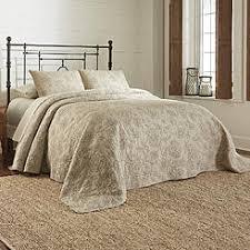 Beige & Tan Quilts & Coverlets - Sears & Bedspread Floral Stitch – ... Adamdwight.com