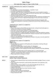 Administrative Assistant Marketing Resume Samples | Velvet Jobs ...