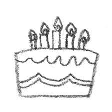 バースデーケーキのイラスト真横ロウソク付き 無料で使える