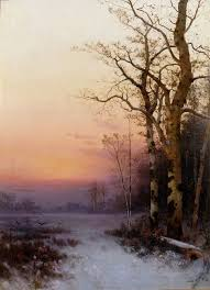 julian rix untitled winter twilight oil on canvas c find this pin and more on american landscape painters