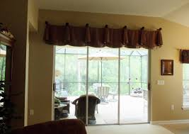 image of window treatments for sliding doors with valance