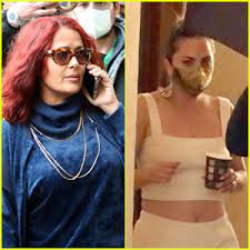 At 12, she was sent to the academy of the sac salma hayek  born: Salma Hayek Sports Red Hair On The Set Of House Of Gucci With Lady Gaga House Of Gucci Lady Gaga Salma Hayek Just Jared