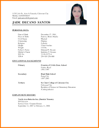 Resume Letter Tagalog Jobsxs Com