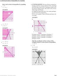 solving systems of linear inequalities by graphing math a 2 b sample answer 4 packages of