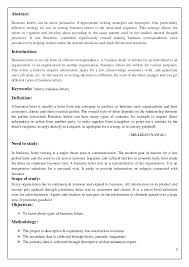 Letter Bussines Types Of Business Letters
