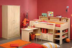 f astonishing children bed design displaying indian red wall paint scheme with natural mahogany wood wardrobe also bunk beds be equipped study desk plus bedroomastonishing solid wood office