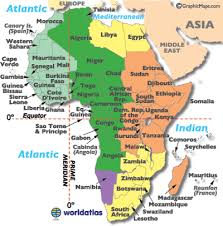 Time Map Africa Timezone Map