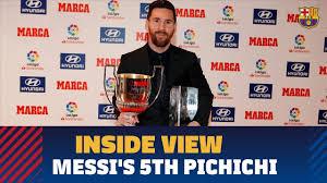 Behind The Scenes Messi Receives Laliga 2017 18 Top Goal Scorer Award