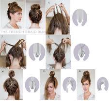 French Braid Updo Hairstyles Diy French Braid Bun Hairstyle Tip Braid Your Hair While Head