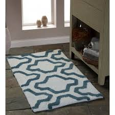 saffron fabs bath rug 100 soft cotton size 50x30 inch latex spray non