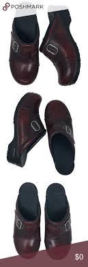 Dansko Burgundy Leather Clog Mules 39 8 5 9 Dansko Size