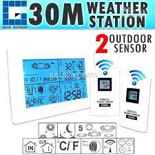 best wireless indoor outdoor thermometer wireless weather station indoor outdoor thermometer temperature humidity w radio controlled clock w 2 remote sensor