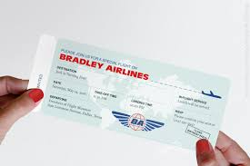 Airline Ticket Invitation Modern Airplane Birthday Party Airline Ticket Invitation 1