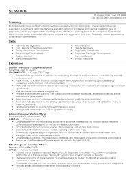 professional camp manager templates to showcase your talent resume templates camp manager